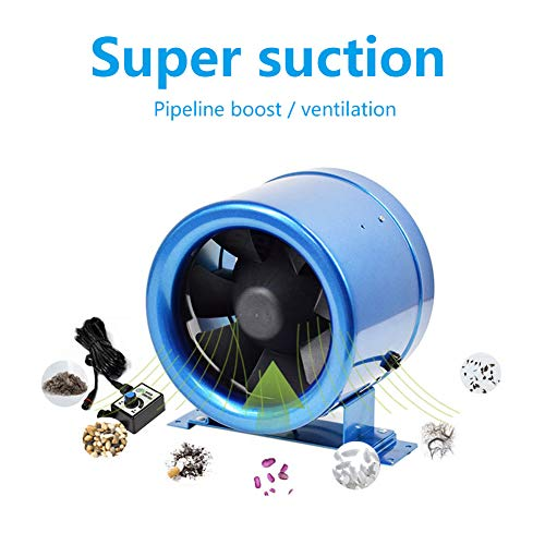 Stille inline kanaalventilator, 350CFM EC PWM-ventilator met variabele toerental, automatische energiebesparende AC 220 V 50 Hz/60 Hz kanaalventilator voor keuken, badkamer, internetcafé enz.