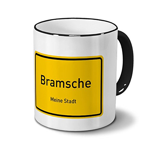 Städtetasse Bramsche - Design Ortsschild