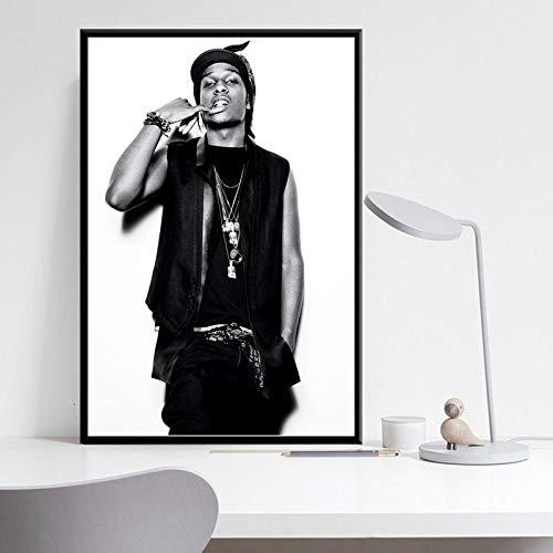 Rock Rap Musik Hip-Hop Rapper Poster Leinwand Malerei Vintage Wandkunst Dekoration,Rahmenlose Malerei-30X45cm