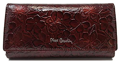 PIERRE CARDIN Portefeuille pour femme, beau, grand, spacieux, cuir, rfi, cadeau, portefeuille avec porte-monnaie, porte-monnaie, portefeuille pour fille., marron,