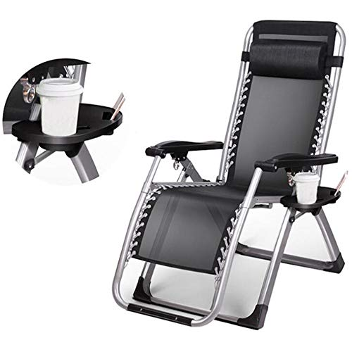 Zero gravity-stoel Tuinstoelen Ontspannende opklapbare fauteuil Ruimtebesparend stalen buis 40 mm Liggende Oxford-stof, Sea Beach Pool Tuinmeubilair
