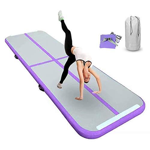 FBSPORT 20cm Espeso Colchoneta Inflable de Gimnasia, Largo 3M Entrenamiento Tapete de Yoga, Taekwondo Inflable colchoneta