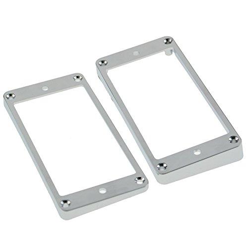 2x Plastic Humbucker Pickup Ring Frame Mounting Ring Chrome for Electric Guitar
