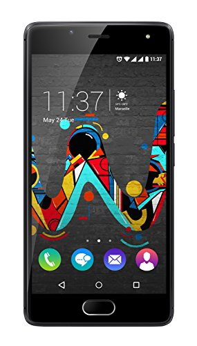 Wiko U FEEL Smartphone (12,7 cm (5 Zoll) HD IPS-Display, Fingerabdruck-Sensor, 16 GB interner Speicher, Android 6 Marshmallow) space grau