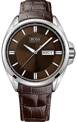 Boss - Reloj de Cuarzo para Hombre, Correa de Cuero Color marrón