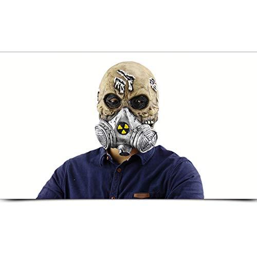 MISS YOU Halloween-Masken Halloween gruselig biochemische Gasmaske Schädel Kopfbedeckungen, Halloween-Maske Kostüm-Partei-Festival