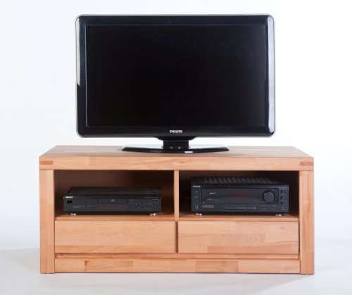 TV-Lowboard L Kernbuche massiv geölt mit 2 Schubkästen