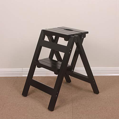 GHFHF Paseo de paso, plataforma plegable de madera, soporte de estante floral para el hogar, arroyo de árbol, multifunción para interior de 2 pasos