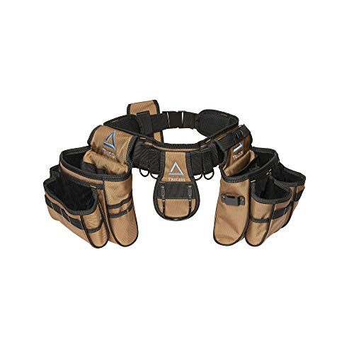 Tricidi - Coyote Brown Heavy-Duty Tool Belt - Tactical Work Organizer - Utility Pouch - Carpenters Electrician Contractor Apron Bag