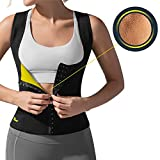 HOT SHAPERS Cami Hot Waist Cincher – Women Slimming Sweat Vest & Sauna Body Shaper (Medium, Black)