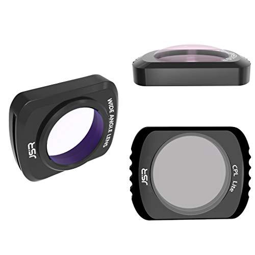 DOGZI DJI OSMO Pocket Filtros magnéticos de Lente de cámara magnéticos de Aluminio Impermeables Profesionales (Wide Angle + 10X + CPL)