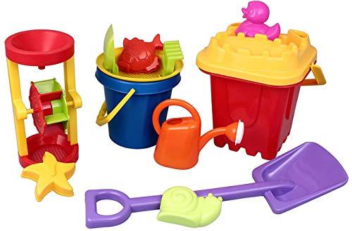 Izzy Riesen Eimergarnitur XL Sandgarnitur 13 teilig Strand Sandspielzeug Sandspielset Meerestiere Sandförmchen Kinder Outdoor Aktivität