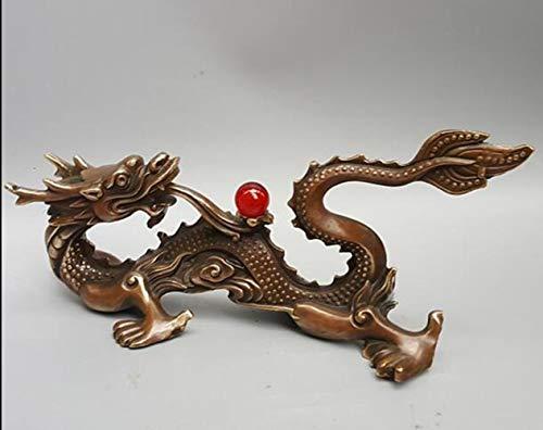 Ethan Retro Chinese messing mythe beeldje rijkdom vliegen draak bronzen standbeeld