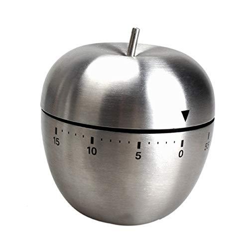 Perfekte Mechanische Neue Küche Kochen Timer Alarm 60 Minuten Edelstahl (Color : Silver)