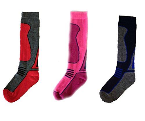 Ski Performax niña calcetines mezclar color 9.0-12.0