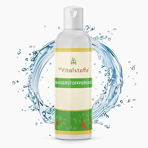 HM Vitalstoffe® Wasserstoffperoxid 3,5{802681331e778d5f7a9df30dae6bb87487f1855c7e5d368c1d6a946c3be17b65} - [250 ml] - Perfekt zum Desinfizieren - Ohne Stabilisatoren & Hoch energetisiert - H2O2 Lösung - Höchste Qualität