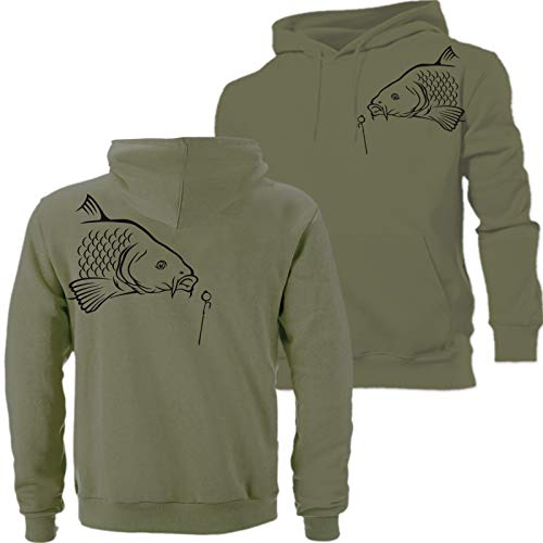 QBEC BIG CARP (A) hoodie hunter, fishing, angling ideal birthday, Father's Day, FREE UK DELIVERY!!! (L)