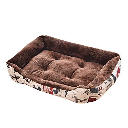 MJDSVWCS Sofá Cama de Lana Suave para Perros, Mascotas, Perros, colchonetas para Dormir, cojín, Camas para Perros, Nido para Perros pequeños, medianos y Grandes Co M