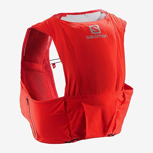 SALOMON S/Lab Sense Ultra 8 Set Unisex Trail Running Vest Backpack, Racing Red, X-Small