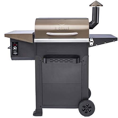 Z Grills ZPG-6002B 2020 New Model Wood Pellet Grill & Smoker 6 in 1 BBQ Grill Auto Temperature Control, 600 sq in Bronze