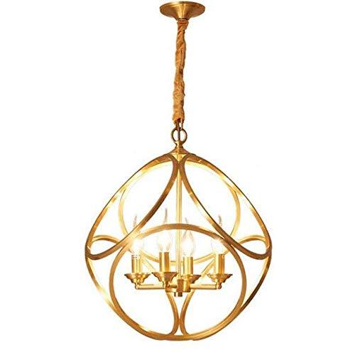 4 Birdcage decorativo Lámparas personalidad creativa Dormitorio restaurante Isla Araña nórdico minimalista restaurante minimalista lámpara de techo circular pendiente de la luz de la lámpara E14