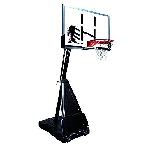 "Spalding Portable Basketball System - 54"" Aluminum Trim Acrylic Backboard"