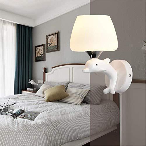 MTX Ltd Plafond Lightwall Lampe Lampe Suspendue Moderne Minimaliste Chaud Chambre Lampe de Chevet Enfant Créatif avec Éclairage Résine Dauphin Applique Murale