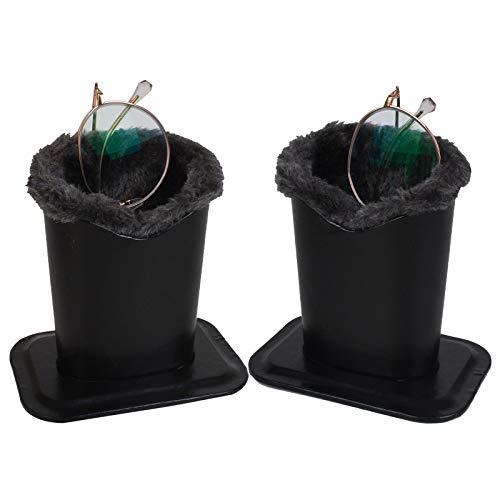 Fine tools Paquete de 2 soportes para gafas de mesa o mesitas de noche - negro - 2 Pack