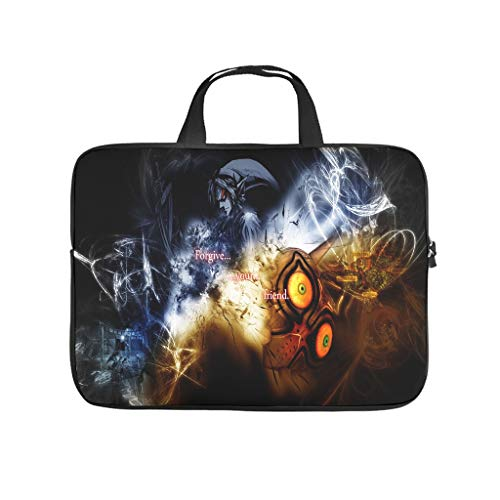 the legend of zelda Laptop bag Pattern Laptop Case Bag Colorful Scratch-Resistant Laptop Sleeve with Portable Handle for Women Men white 10 zoll