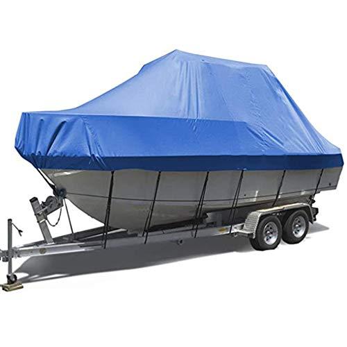 GLJ Funda para Barco 100% Impermeable, Cubiertas Remolcables para Botes Runabout, Durable y Resistente Al Desgarro, Se Adapta a Tri-Hull V-Hull de 11-22 Pies (Size : 20-22FT: 700 * 290cm)