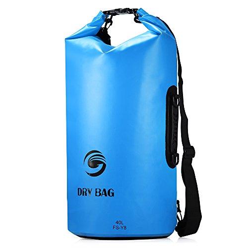 Sacca Impermeabili Borsa Waterproof 40L, GrandBeing® Borse Impermeabili Dry Bag con Tracolla Regolabile, Una Spalla o Alle Spalle, per Attività all'Aperto e Sport d'Acqua (Blu)