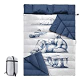 Oso Polar Saco De Dormir Para Acampar Para Dos Personas Saco De Dormir Individual Desmontable Con Almohada Ligero Y Transpirable