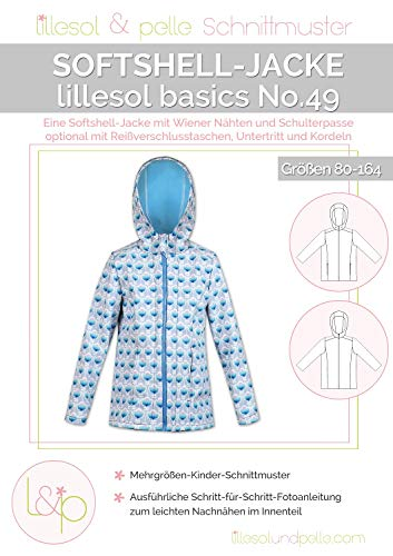 Lillesol & Pelle Schnittmuster basics No49 Softshelljacke Papierschnittmuster