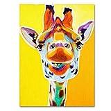 wydlb Gemalte abstrakte Tierbilder auf Leinwand, Esel Gemälde Wohnkultur Wandkunst Cute Ass 3D Bilder Geschenke 60x90cm Kein Rahmen
