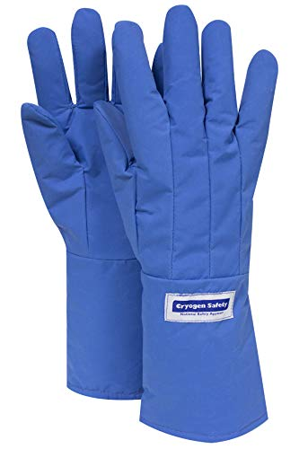 National Safety Apparel G99CRBERLGMA Nylon Taslan and PTFE Mid-Arm Standard Water Resistant Safety Glove, Cryogenic, 14