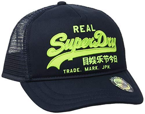 Superdry Herren Vintage Logo Trucker Baseball Cap, Blau (Mariner Navy QB2), Einheitsgröße