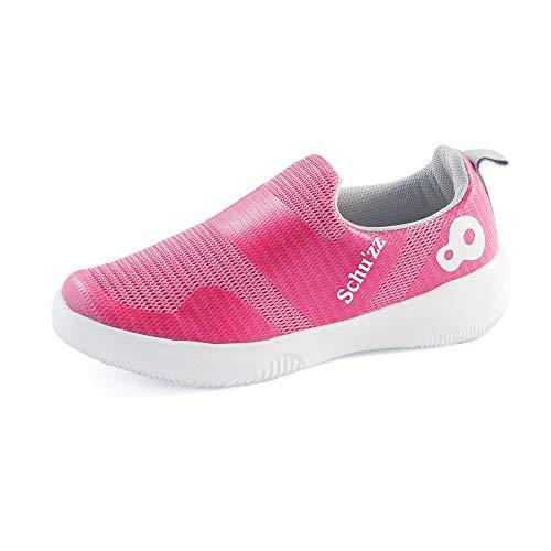 Schu'zz Chaussure de Travail - Basket Sans Lacet Femme Mesh Rose - Infirmière hopital (36 EU)