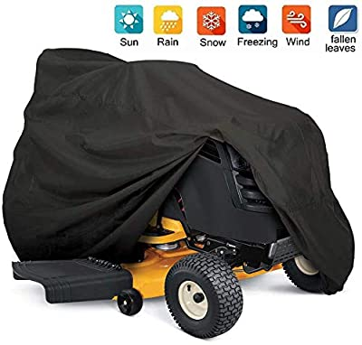 Nomiou Outdoors Tractor Lawn Mower Cover Heavy Duty,UV Protection Universal Fit with Drawstring,72X 46 x54inch