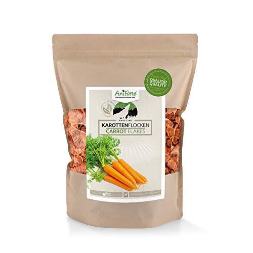 AniForte Barf Zusatz für Hunde Karottenflocken 1kg - Naturprodukt, Barf Ergänzungsfutter, glutenfrei, Flocken ohne künstliche Zusätze, 100% Natur Ergänzung barfen, Futter …
