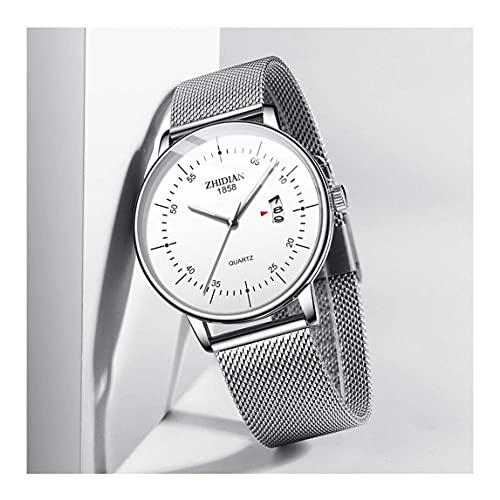 WYZQ Reloj Ultrafino para Hombre 2018 Nueva Tendencia de Moda Simple Concepto Informal Reloj para Hombre (Color: E) (Color: D), Relojes