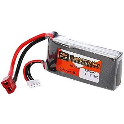 jiumoji Professional ZOP Power 11.1V 1300mAh 30C 3S Battery T Plug Compatible with RC Drone FPV Quadcopter Car