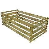 Famehours Papelera de compost con láminas de madera de pino...