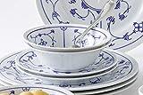 Kahla 16G102O75019H Dinnerware of 4 Blau Saks Porzellan Geschirrset weiß blau Blumenmuster Kombiservice 16-teilig Frühstückset für 4 Personen Snackteller Speiseteller Müslischüssel Kaffeebecher - 3