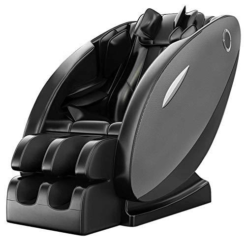 SillóN Masajeador SillóN De Relax Shiatsu SillóN Gravedad cero/Conexión de audio Bluetooth/Envoltura de airbag de cuerpo completo/Operación LED/Instalación gratuita,Negro