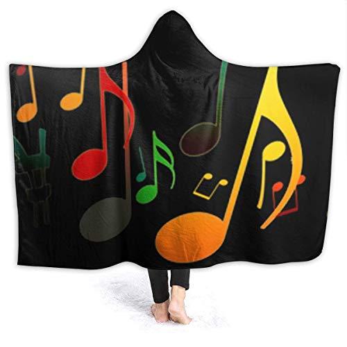 GOSMAO Manta de Franela Tela de Cepillo Extra Suave Súper cálida Mantas para sofás acogedora y Ligera Prueba de Sonido Musical 50'x40',W127cm X L102cm