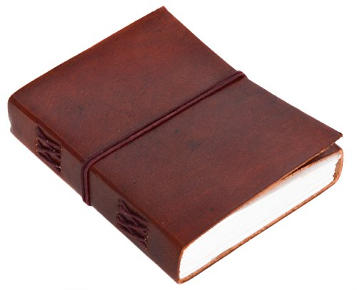 Gusti Notizheft Leder - Florence Buch Notizbuch Tagebuch Reisetagebuch DIN A6 Braun