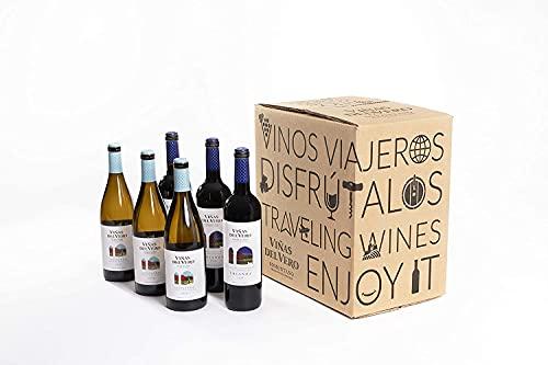González Byass 3 botellas Viñas del Vero Crianza + 3 botellas Viñas del Vero Chardonnay - Estuche exclusivo Amazon - 750 ml
