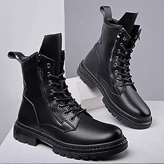 Martin Bottes d'hiver Chaussures décontractées en coton et cachemire Bottes de neige à semelle épaisse Bottes courtes en p...