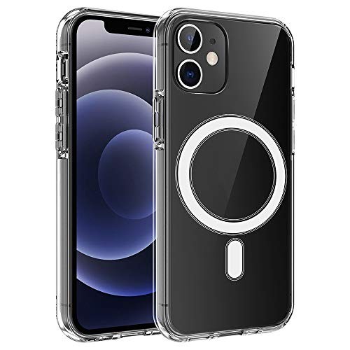 Adecuado para iPhone 12 Pro Max 12 Mini Pro 12pro Funda transparente Funda transparente Magsafing admite carga inalámbrica