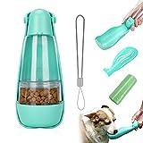 Auflosung Botella para Perros, Botella de Agua para Perro 460ml,2en1 Dispensador de Agua y Comida Portátil,Prueba de Fugas, Taza para Beber para Mascotas al Aire Libre